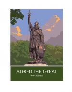 Winchester, King Alfred Statue